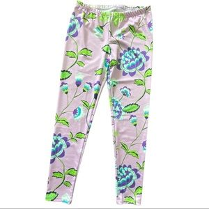 Lolly Wolly Purple Floral Pants Medium